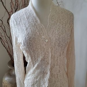 NWT Vintage Blushe By Spiegel Lace Blouse